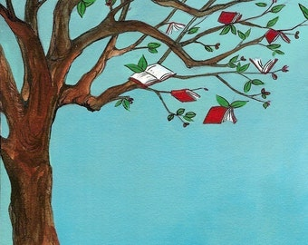 Red Book Tree - Small Print