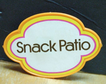 Snack Patio sign from Barbie Fashion Plaza 1975