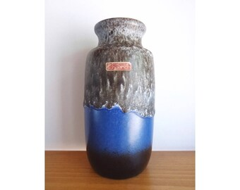 Scheurich Keramik 213-20 Vase - 1970s West German Pottery - Fat Lava WGP
