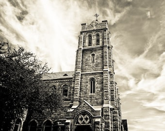 Fort Worth, Texas, Art Deco, Gothic Revival, Building, Architecture, Stone - St Andrew's Episcopal Church