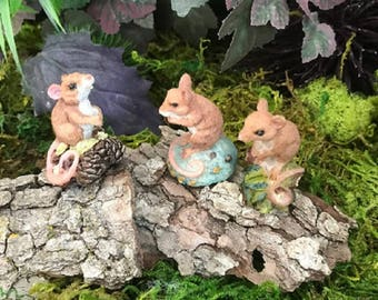 Miniature Field Mice - 3 Styles to Choose From!