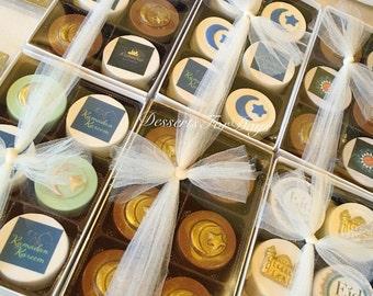 Half Dozen (6) Eid Covered Oreo Gift Box. Ramadan Oreo Boxes. Eid Gift Boxes. Edible Gifts. Covered Oreos. Dessert Table. Chocolate Covered