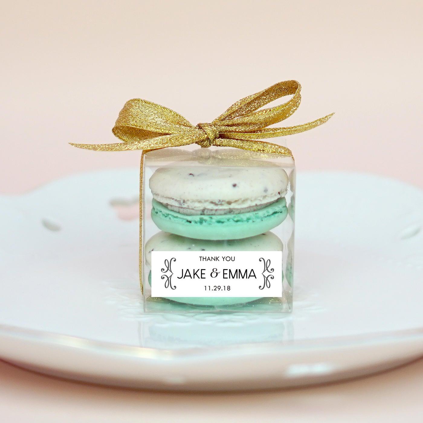 10 Sets of wedding clear macaron packaging macaron box