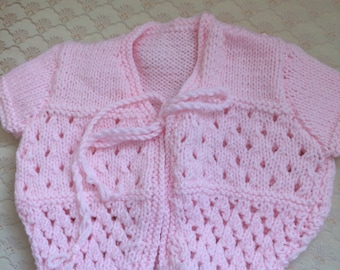 Baby short sleeved cardigan