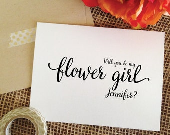 Will you be my flower girl card proposal cute flower girl card ask flower girl proposal card cute flower girl invite wedding cards