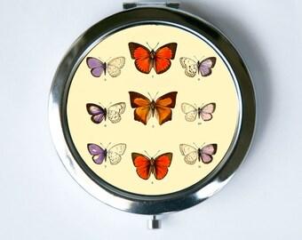 Butterflies Compact MIRROR Pocket Mirror butterfly hipster pretty
