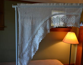 Two Vintage Lace Valance/Swag Curtains