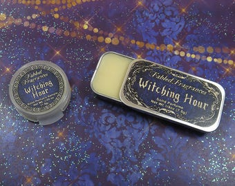 WITCHING HOUR Solid Perfume with Black Pepper, Allspice, Rosemary, Bay Laurel, Frankincense, Smoke, Copal, Vegan Perfume Balm, TAT 5-8 Days