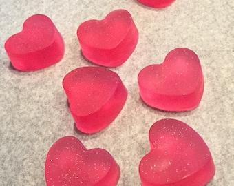 Shimmering Heart Soaps-12 Soaps
