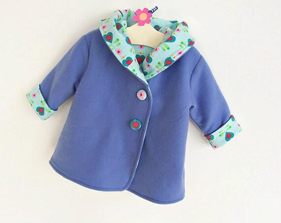 HEARTS HOODIE Children Baby Girl Boy Jacket pattern Pdf