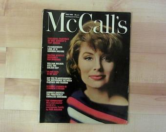 Vintage McCall's Magazine : July 1962