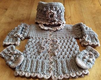 Victorian baby crochet set pattern