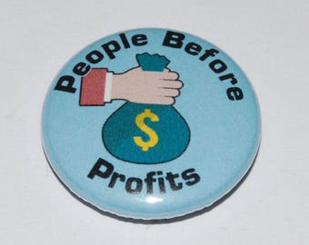 People Before Profits Button Badge 25mm / 1 inch
