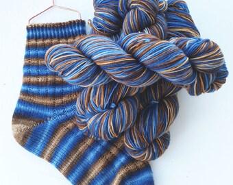 Hand dyed self striping merino sock yarn - Wit Beyond Measure