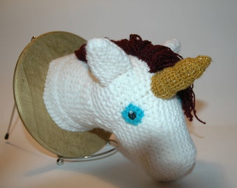 Unicorn Crochet Taxidermy