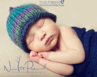 Knitting PATTERN - Easy Knit Hat Pattern - Knit Baby Hat Pattern - Knitting Patterns for Babies - 3 Sizes Newborn to 12 Months - PDF 228