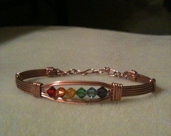 Rainbow Gay Lesbian Pride  Bracelet LGBT GLBT