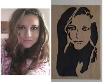 Portrait wooden