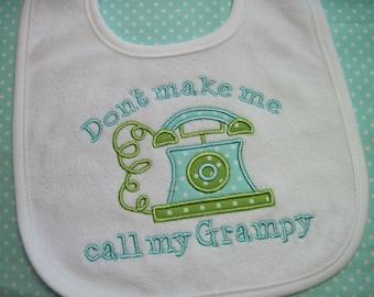 GRAMPY's Special Cutie - Personalized  Baby Bib