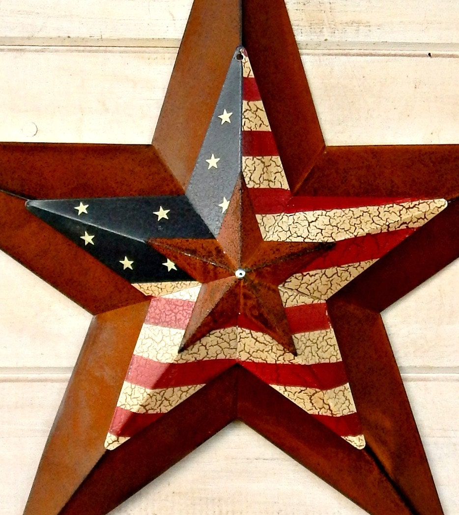 Well-known Star Home Decor-Star Wall Hanging-PRIMITVE American BARN STAR  HG06