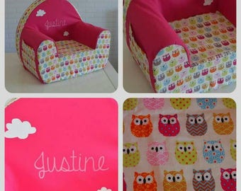 Club Chair personalized with the name of your choice theme cloud