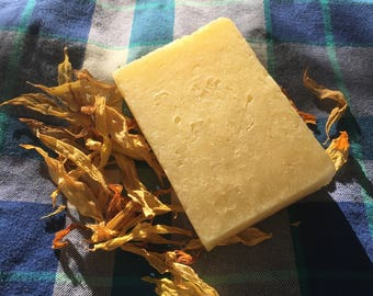 Sunflower Shampoo Bar, Hot Process Soap, Eco-Friendly Shampoo, Natural