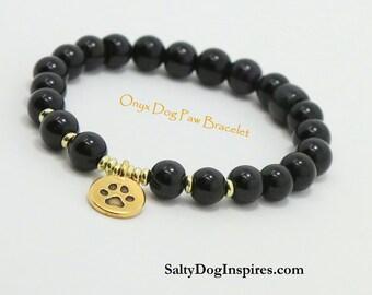 Pet Bracelet Paw Print Bracelet, Pet Memorial Bracelet, Dog Charm Bracelet, Pet Jewelry, Pet Memorial Jewelry, Pet Lover Gift, Pet Loss gift