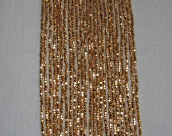Pyrite, Pyrite Bead, Pyrite Faceted Bead, Natural Stone, Gold-Like Bead, Faceted Gold Bead, Small Bead, Full Strand, 3 mm, AdrianasBeads
