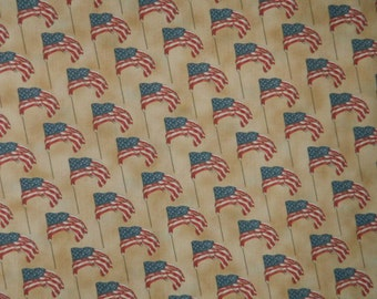 Moda Fabric ~ Vintage Workshop by Indygo Junction Designs ~ Patriotic Flag Fabric