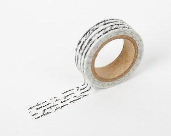 LETTER Washi Tape / Masking Tape / Scrapbooking / Decoration / Planner Stickers / Planner Tape / Bullet Journal / Craft Supplies / DIY