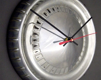 Mercury Hubcap Clock - 1960 1961 Comet Retro Wall Clock