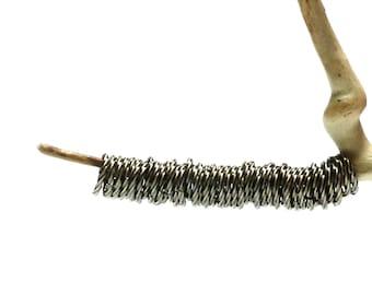 Jump Rings 10 mm Antiqued Silver Plated Fancy Twist 10 mm OD Jumprings 16 Gauge - 12 Piece