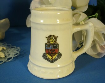 1953 Kappa Psi Spring Formal Tankard Stein College Collectible Fraternity Sorority Coat Of Arms Dance Small Vintage Beer Mug Mid Century