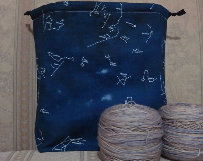 Constellations: Large Drawstring Project bag