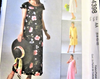 maternity dress pattern McCalls sewing simple and easy 6-12 USA UNCUT