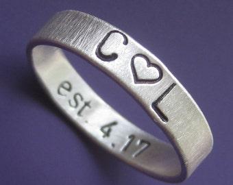Wide Inner Message Custom Ring