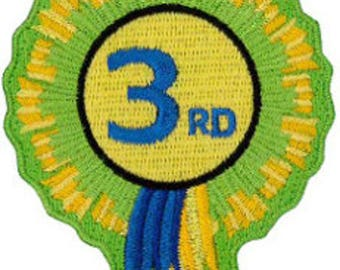 "3rd Rosette Embroidered Patch 8cm x 6cm (3"" x 21/2"")"