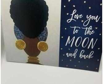Natural Hair Greeting Card.