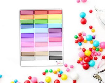 Rainbow Quarter Boxes