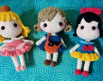 A finished Product  : 3 Crochet Girl Style [ 10 inches Crochet doll amigurumi / NnnCraft ]