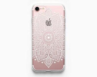 Mandala iPhone 7 Case iPhone 6 Case iPhone 7 Plus Case iPhone 8 Case iPhone 6s Case iPhone X Case iPhone 8 Plus Case Boho Clear Art