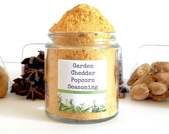 Garden Cheddar Popcorn/Popcorn Seasoning/Popcorn Seasoning Set/Gourmet Popcorn/Popcorn Bowl/Food Gift/Foodie Gift/Party Favor/Wedding Favors