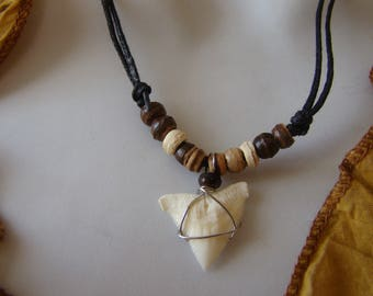 Handmade Real Shark Tooth Necklace real shark tooth pendant necklace / Unique piece - One size fits most - Adjutable Cord