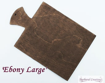 Hand made wooden hornbook - 'Ebony Large'
