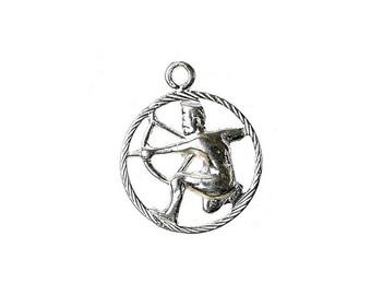 Sterling Silver Zodiac Sagittarius Charm For Bracelets