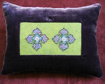 Venetian Motif Beaded Pillow
