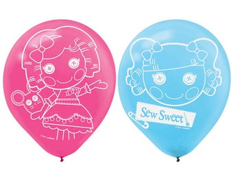6ct. LALALOOPSY Printed Latex BALLOONS Birthday Party Supplies Decorations