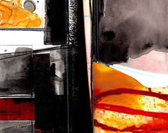 Abstract Stories ... No.4 ... Original colorful mixed media art painting by Kathy Morton Stanion EBSQ