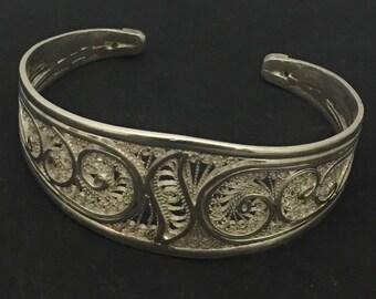 Moroccan Filigree Silver Bracelet