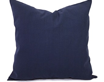 Solid Pillow Covers - Navy Couch Pillow Covers - Two Navy Throw Pillow Covers - Navy Blue Pillow Covers - Decorative Pillow - Navy Pillows